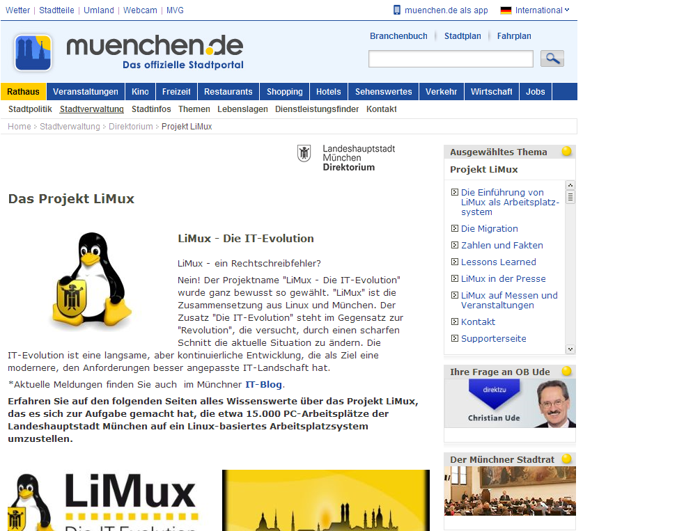 Landeshauptstadt München - Das Projekt LiMux_1379311708057