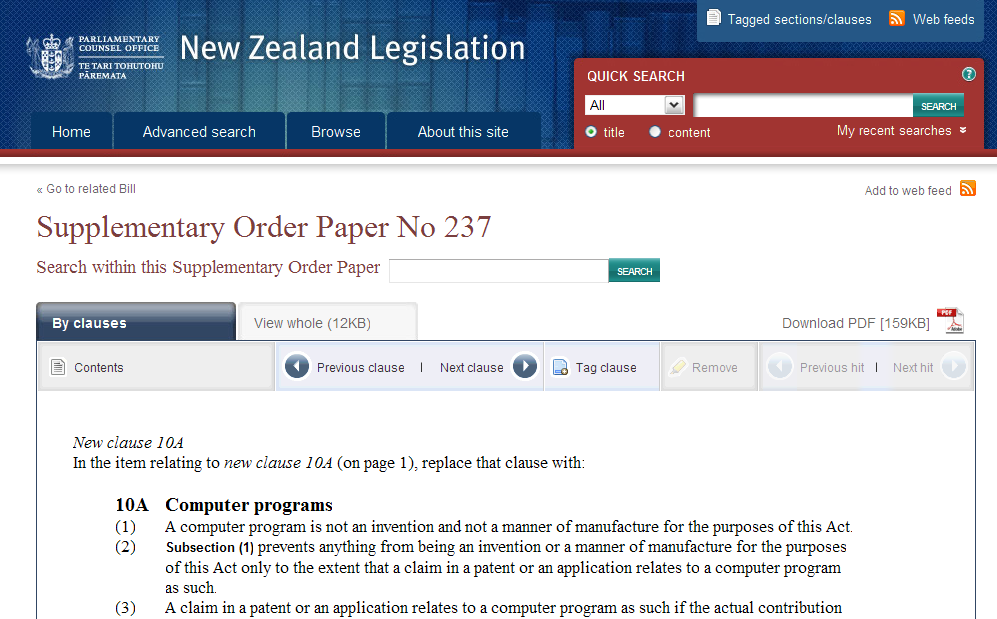 Supplementary Order Paper No 237 (released 09 May 2013) New clause 10A – New Zealand Legislation_1378107914643