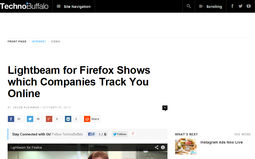 Lightbeam for Firefox Shows which Companies Track You Online - TechnoBuffalo_1384920384576