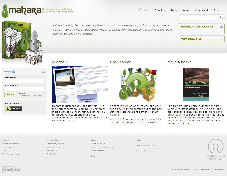 Home - Mahara ePortfolio System_1389267180744