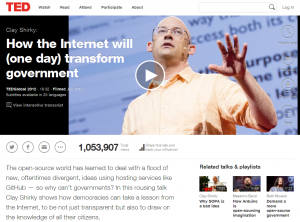 Clay Shirky- How the Internet will (one day) transform government - Talk Video - TED_1395719295526