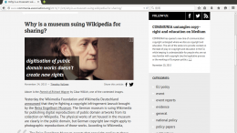 Why is a museum suing Wikipedia for sharing? - International Communia Association - Mozilla Firefox_112